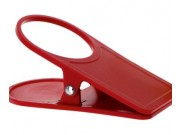 Gimex Glass Holder and Table Cloth Clamp In One Red 915513