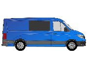 VW Crafter/TGE 2017> O/S/F Opening Window in Privacy Tint MWB/LWB/LWB+ W253